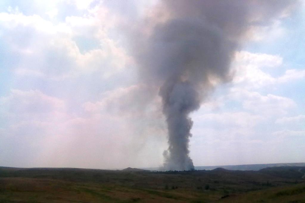 Пожар насвалке вОренбуржье: стянуты дополнительные силы